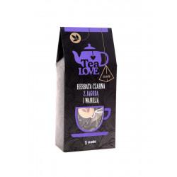 Czarna herbata Tea LOVE z jagodą, wanilią i kwiatami chabru w piramidkach to świetne herbaciane połączenie zapakowane w gustowny i wygodny sposób.