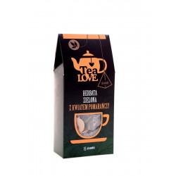 Herbata Tea LOVE zielona z kwiatem pomarańczy piramidki (15 szt.)