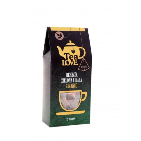 Bogactwo smaku zamknięte w niewielkich piramidkach – zielona i biała herbata Tea LOVE z mango jako propozycja dla wybrednych smakoszy.