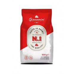 Kawa GIOVANNINI N.1 ziarnista 500gto doskonałe połączenie robusty oraz arabiki. Poznaj jej wyjątkowy smak i pozwól sobie na odrobinę przyjemności każdego dnia.