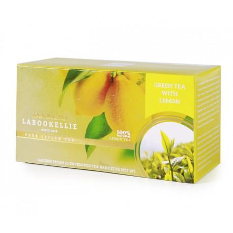 Naturalna zielona herbata z dodatkiem cząstek cytryny.Przyjemne orzeźwienie na początek dnia.