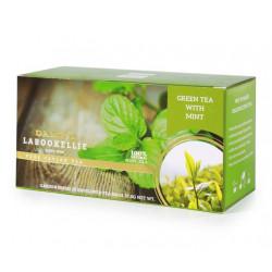 Naturalna zielona herbata z liściem mięty.