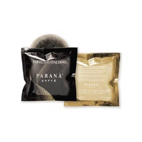 Wyjątkowe aromaty (robusta 80%, arabika 20%) w połączeniu z owocowymi nutami smakowymi czynią, że saszetki E.S.E.CaffèPARANÀ Espresso Italiano nasycą wymagania najwytrawniejszych kawoszy.