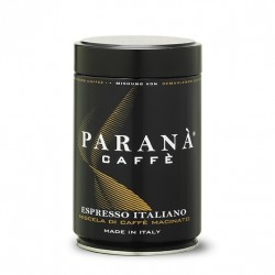 Parana Espresso Italiano to włoska kawa mielona 20% arabika 80% robusta palona w rodzinnej palarni w Rzymie.
