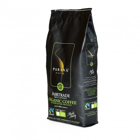 PARANÀ FAIRTRADE Organic Coffee to organiczna kawa ziarnista, 100% arabika, wyróżniona certyfikatem Fairtrade. Świeżo palona!