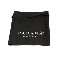 Czarna bawełna, kieszenie, logo Caffè PARANÀ.